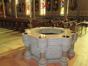 3e savannah katedra chrzcielnica