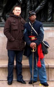 freedom trail 6. przed pomnikiem afroamerykaskich zolnierzy