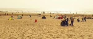 Na plaży w Agadirze późnym popołudniem