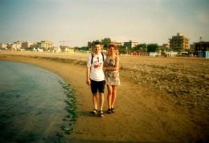 18 Rimini wieczorem na plazy