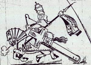 karykatura wysmiewajca papieza piusa xi