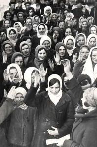 zebranie kobiet wsi karasiwka 1932 potawszczyzna popierajce utworzenie kochozu